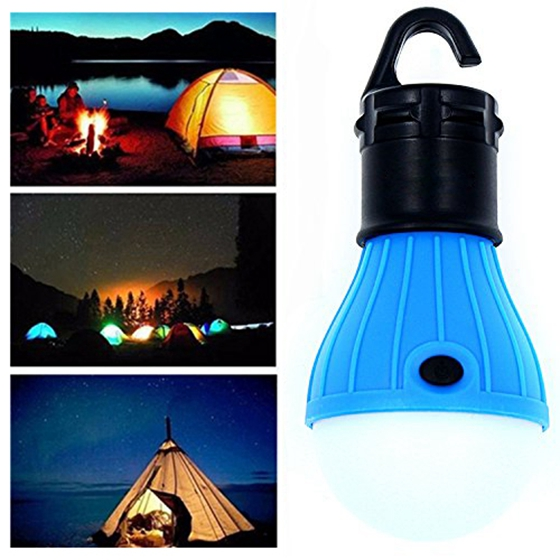 3Pack LED Tent Bulb Portable Lantern Emergency Night light for Camping, Hiking, Fishing, & Outdoor Lighting Blue(Pack of 3)