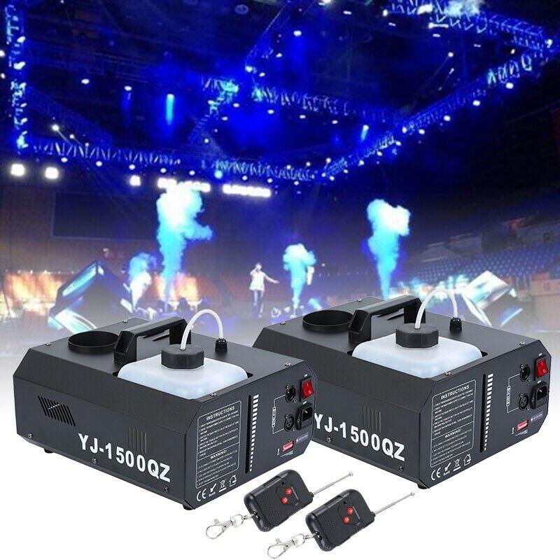 Yonntech 2 stücke 1500W Vertikale Bühne Nebel Rauch Maschine Upspray Fogger w/Wireless Remote Contro