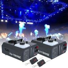 Yonntech 2pcs 1500W Vertical Stage Fog Smoke Machine Upspray Fogger w/Wireless Remote Contro