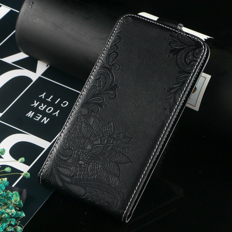 Vintage Business Embossed flower butterfly towel flip up and down leather case cover for BQ BQ 5005L Intense