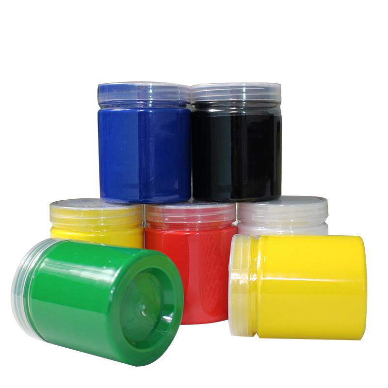 Free Shipping 250g/bottle Screen Printing  Water-based Ink Purple Gold Silver 10 Colors