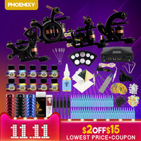 Professional Tattoo Kit 4 Machine Gun 14 Color Inks Power Supply Complete Tattoo Kits Beginner Tattoo Kits