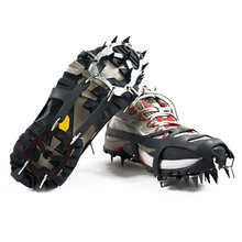 2pcs 18-Teeth Sports Anti-Slip Ice Gripper Cleats Shoe Boot Grips Crampon Chain Spike Snow for Hiking Climbing High Quality