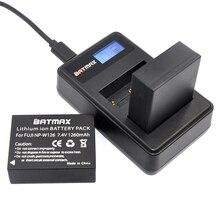 2 Шт. 1260 мАч NP-W126 NP W126 NPW126 Батареи и ЖК-ДИСПЛЕЙ Dual Зарядное Устройство для Fujifilm Fuji X-Pro1 XPro1 X-T1 XT1, HS30EXR HS33EXR X PRO1