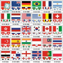 Flag series face tattoo, World Cup, fan games,games,Olympics,Poland,England Ukraine Singapore temporary tatoo sticker.
