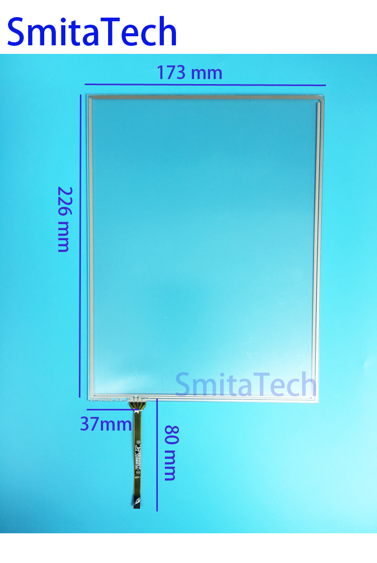 10.4 inch Narrow cable 226mm*173mm 4wire Resistive Touch screen Digitizer panel ST-104002 226x173mm new 3 5 inch 4wire resistive touch panel digitizer screen for texet tn 300 gps free shipping