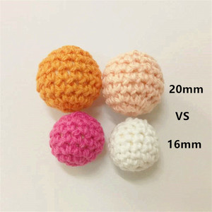 Image 5 - Chengkai 50pcs 20 มม.ถักโครเชต์ไม้ลูกปัดสำหรับ DIY ตกแต่งทารก teether เครื่องประดับสร้อยคอของเล่น