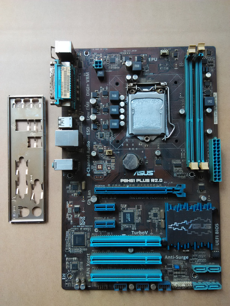 цены Used,for Asus P8H61 PLUS R2.0 Original Desktop Motherboard H61 Socket LGA 1155 i3 i5 i7 DDR3 16G ATX