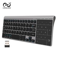 Portable Mute Keys Keyboards 2 4G Ultra Slim Mini Wireless Keyboard With Touchpad For Mac PC
