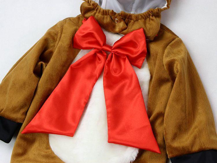 Mono de vellón para bebés conjunto de monos para niños recién nacidos y niñas  trajes de invierno Animal Cosplay formas Halloween disfraz de Navidad en ... 01d25d6964e