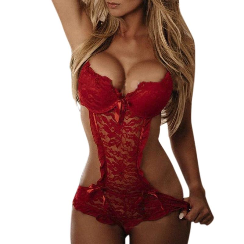 Sexy Costumes Lace Nightgowns Sleepwear Babydolls Red Sexy Lingerie Hot Sexy Underwear M/L/XL Size