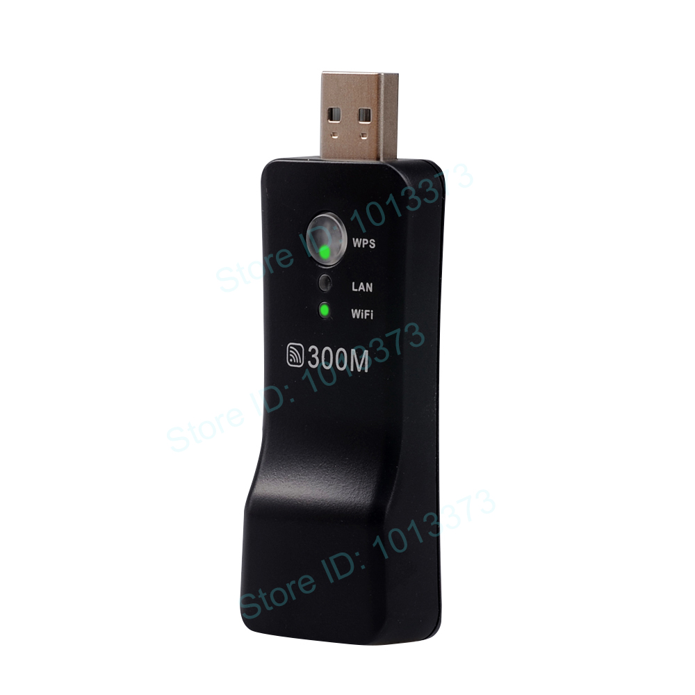 300Mbps Universal Wireless TV Wifi Adapter Network Card RJ-45 Wi-fi WPS Repeater AP Mode for Samsung LG Sony TV