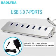 Baolyda USB 3.0 HUB with Power Adapter USB 3.0 HUB 7 Port Multipuerto USB HUB 3.0 USB Splitter 3.0 with 4/7/10 Ports Adaptador binful mini usb hub 3 0 super speed 5gbps 7 ports 1 charging portable micro usb 3 0 hub splitter with cable for pc accessories
