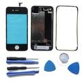 Para o iphone 4S Preto Digitador Touch Screen Painel Caso Porta Da Bateria Quadro Do Meio Kits de Reparação Substituição de Peças