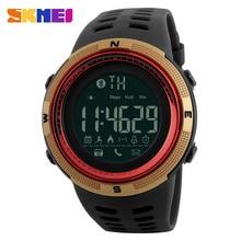Hombres Famosos Reloj Elegante Deporte de la Marca de Lujo Bluetooth Podómetro Calorías Relojes de Moda Los Hombres Reloj de Pulsera Digital Resistente Al Agua
