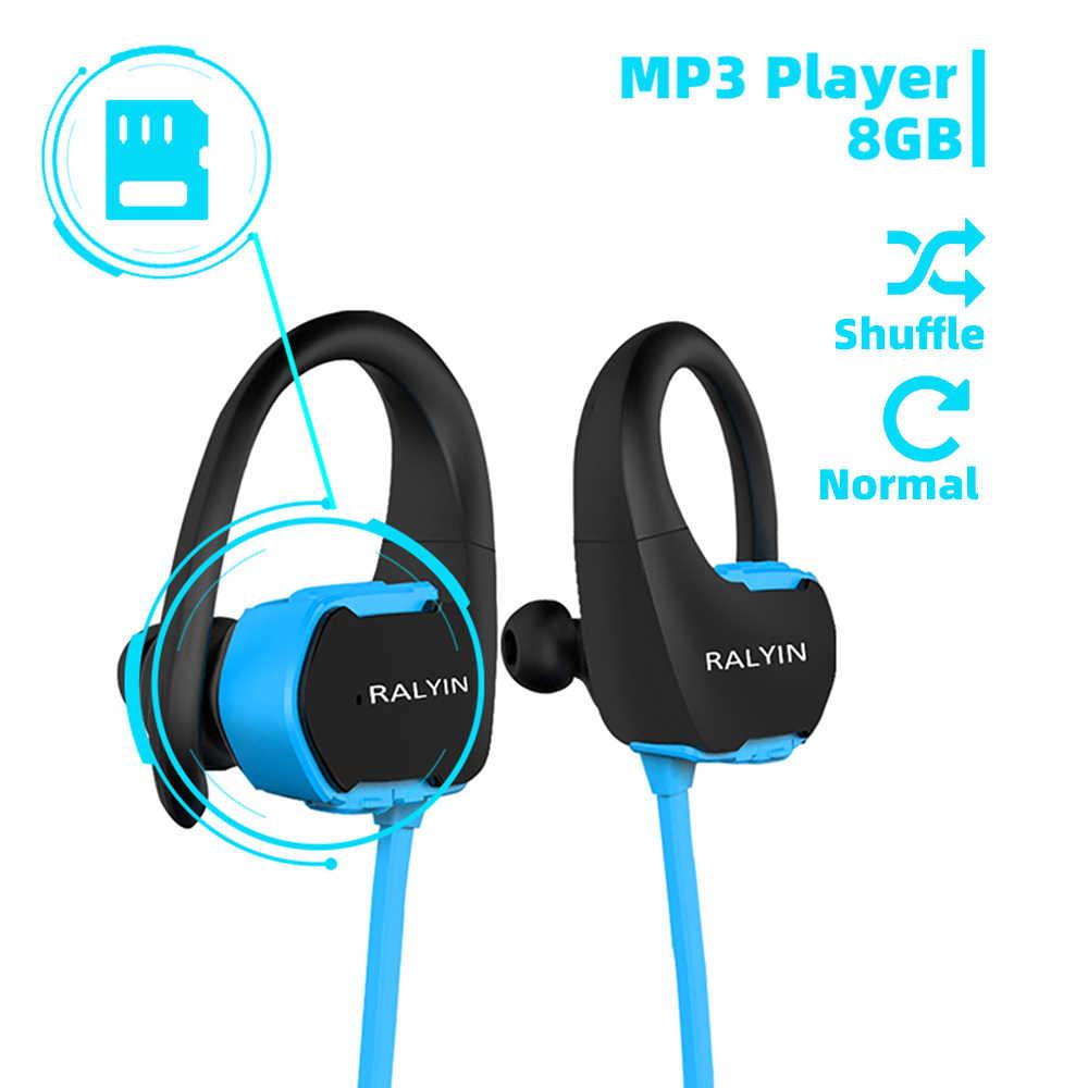 Ralyin 8 ギガバイト mp3 プレーヤー bluetooth ヘッドフォンスポーツ防水ワイヤレス bluetooth 音楽プレーヤーの bluetooth イヤホン電話