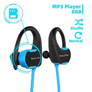 Image 2 - Ralyin 8GB mp3 player bluetooth headphone sport waterproof wireless headset bluetooth music player bluetooth earphone for phone