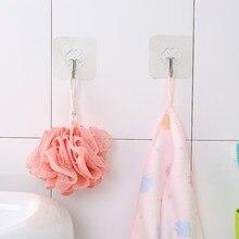 Новинка 1/2, крепкая прозрачная присоска, настенные крючки, вешалка для кухни, ванной комнаты, присоска для ванной комнаты