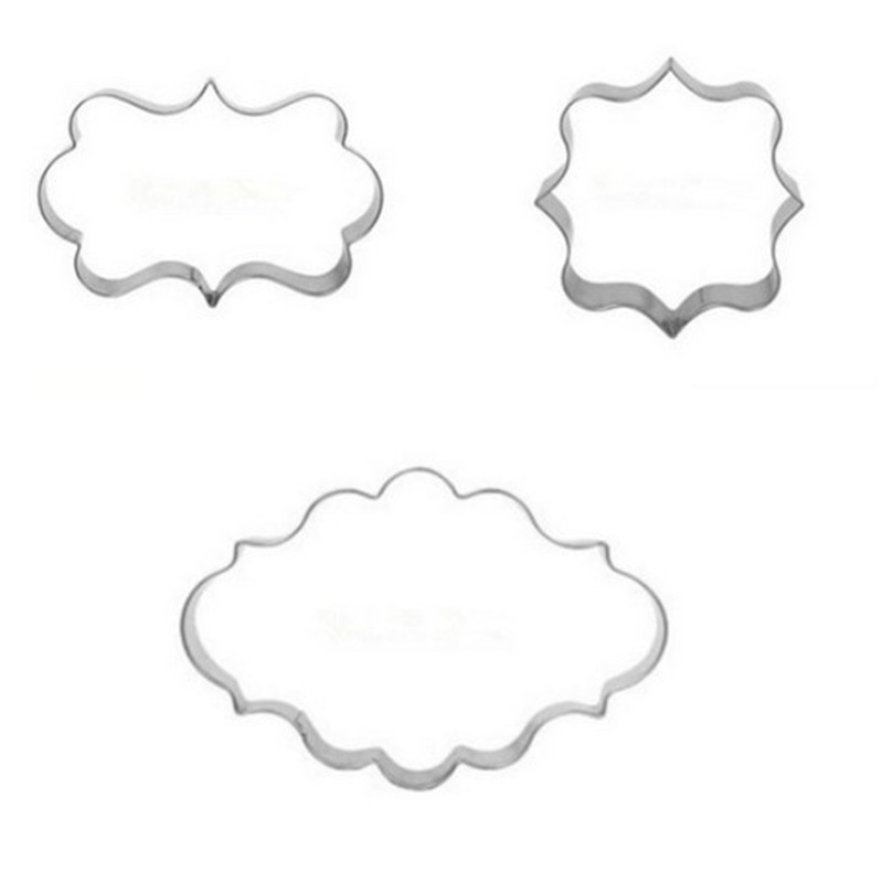 1 Set 3pcs Cookies Pastry Fondant Mold Stainless steel Cake Mold Sugarcraft Decorating Frame Cutter Tool Free Shipping in Baking Pastry Tools from Home Garden