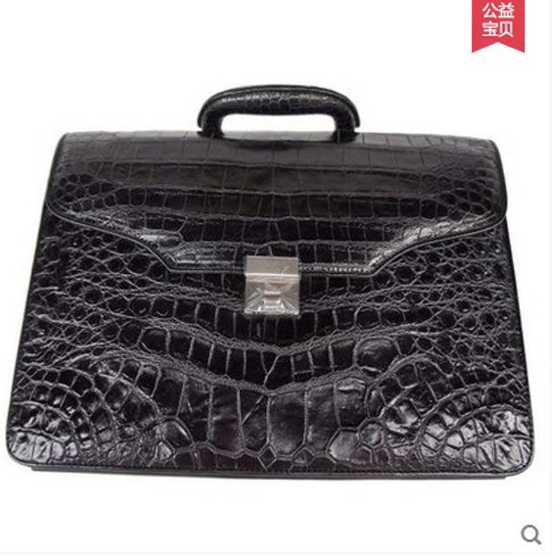yongliang Authentic men's crocodile belly handbag crocodile belly skin men's briefcase leather business package authentic men maibomengnuo authentic crocodile skin wallet belly belly fashionable contracted men thin money clip upright money