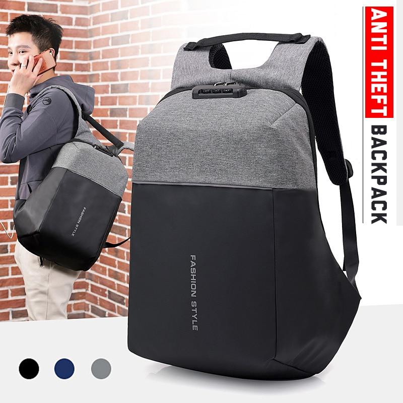 Anti-theft USB Charging Backpack Laptop Notebook Travel School Bag Men Women Bag