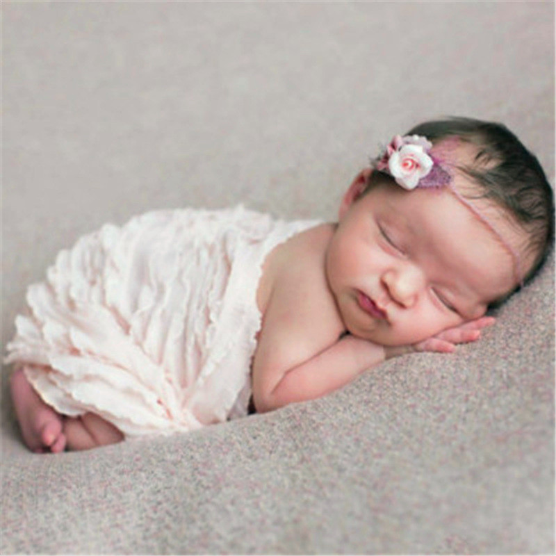 New princess beautiful lace baby photography props newborn photography wraps handmade lace scarf baby photo props accessories in hats caps from mother