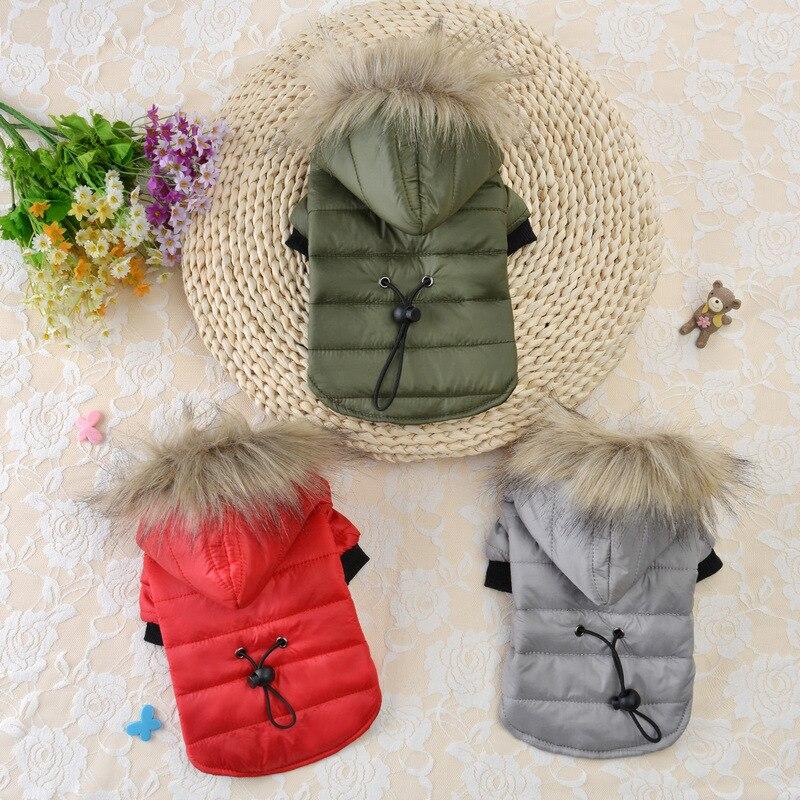 子犬ペット犬のコートジャケットチワワ服暖かい冬のペット犬肥厚服パーカー用小中犬3 colorsxs-xl