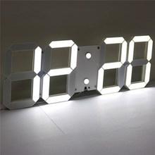 Charminer White Large 3D Acrylic Digital LED Skeleton font b Wall b font font b Clock