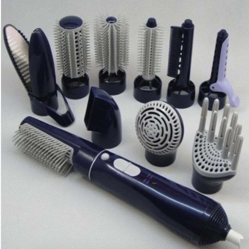 10 en 1 Air Chaud Cheveux Styler 2 Vitesse Pro Défrisant et Bigoudis Fer et Sèche et Brosse à Cheveux ensemble Électrique Outils de Coiffage