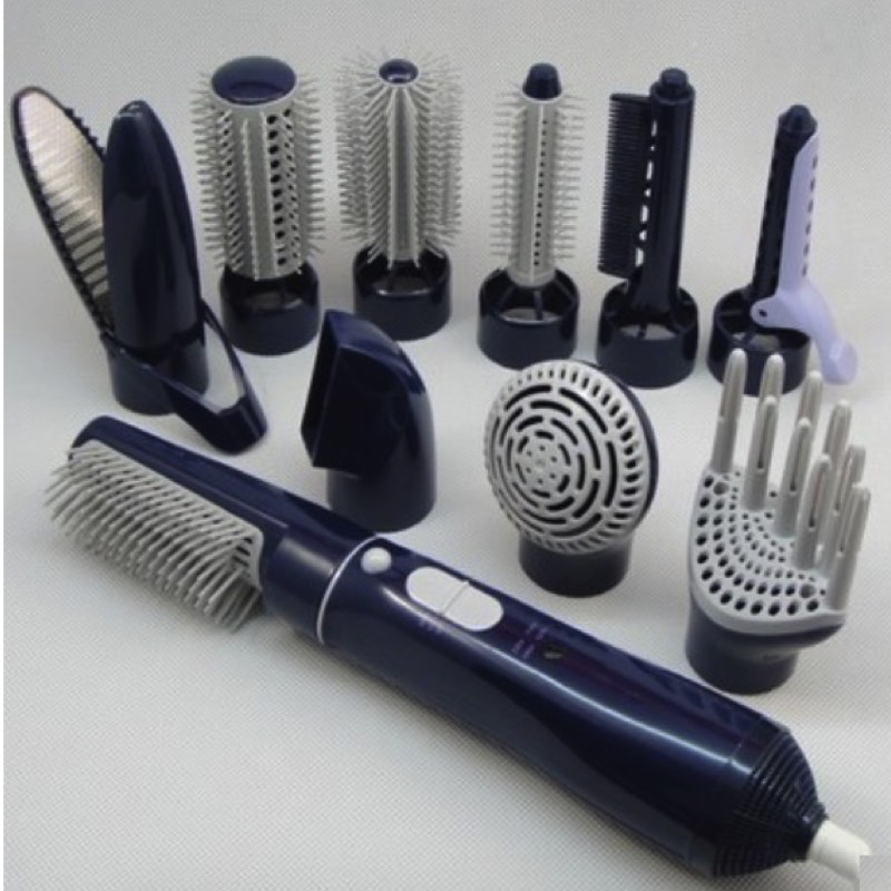 ФОТО 10 in 1 Hot Air Hair Styler 2 Temperature 110V - 240V Hair Styling Tools With Hair Dryer Brush + Curling Irons + Straightener