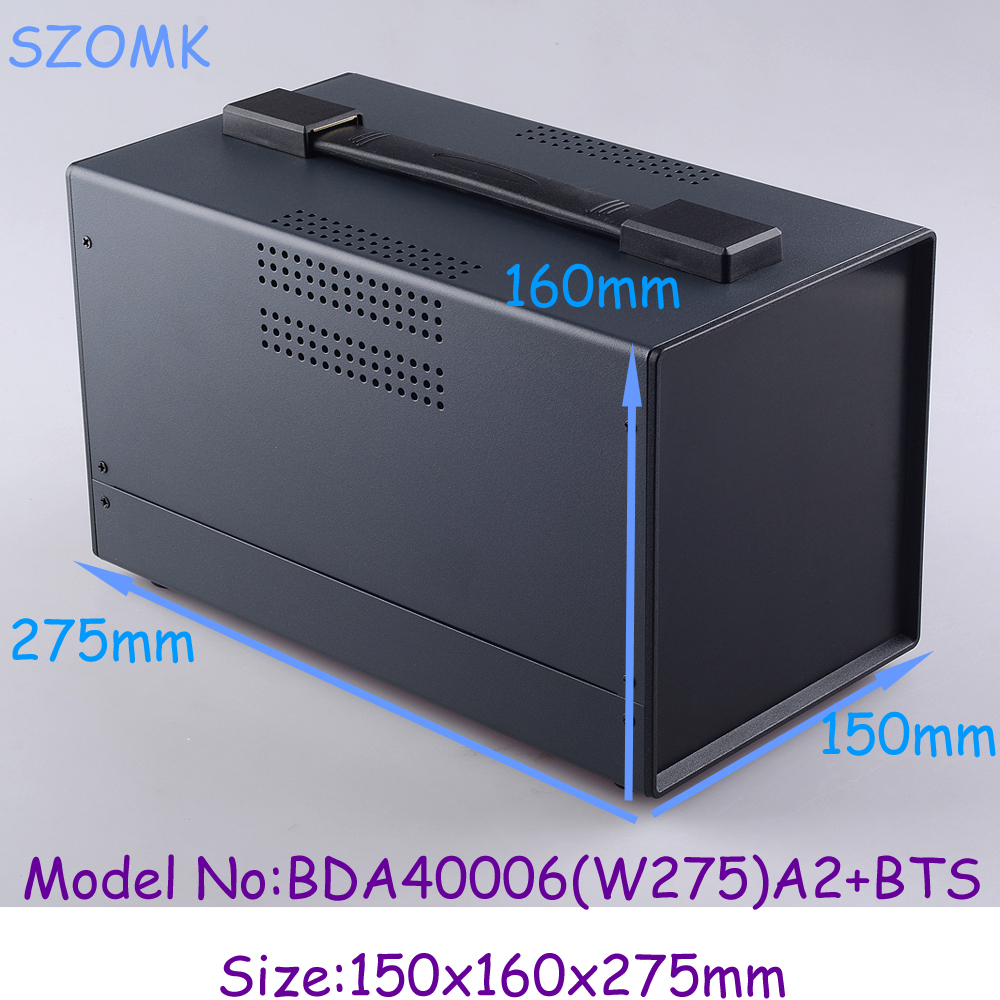 (1 )150x160x275 mm instrument enclosure electronic steel iron box iron project box enclosures for electronics