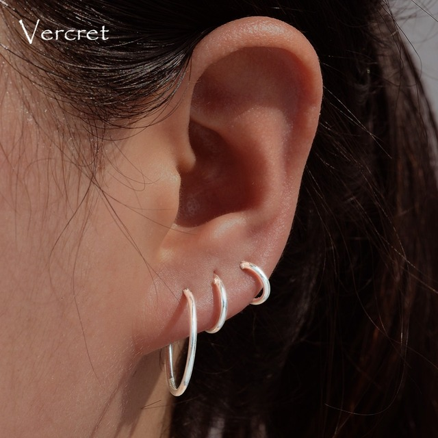 Sterling Silver Small Hoop Earrings Mini Cartilage Set For S Endless 6mm