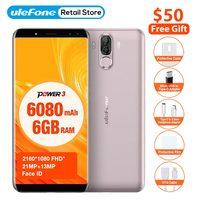 Ulefone Power 3 Smartphone 6 0 18 9 Full Screen 6080mAh 6GB 64GB MT6763 Octa Core