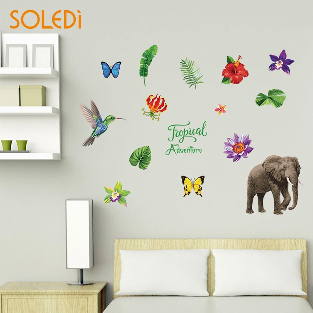 Wall Stickers Home Decor Livingrom Mural Art Jungle Adventure