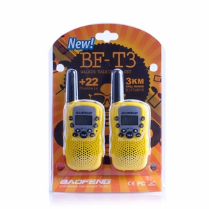Image 3 - 2Pcs Baofeng Mini Walkie Talkie Kids Radio Portable 2W Two Way Radio Handheld Children Transceiver Toys Radio Gift T3 BF T3