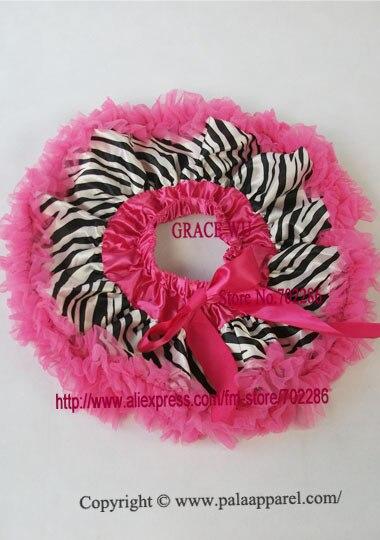 Детская юбка-пачка с рисунком зебры, крошечные юбки для новорожденных, Подарочная детская юбка-пачка - Цвет: hot pink