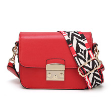 2019 New Single Shoulder Cross body Bag Fashion PU Small Square Geometric Strap Buckle Female Star Style