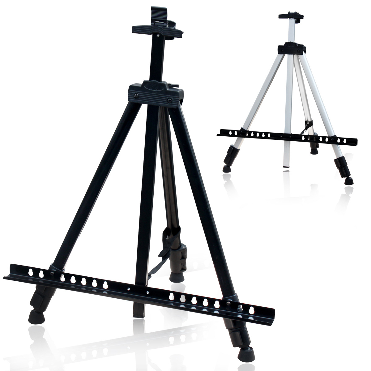 1pcs White Easel Aluminium Alloy Folding blackboard holder Frame Artist Adjustable Tripod Display Shelf With Bag Outdoors Studio aluminium alloy headset stand holder