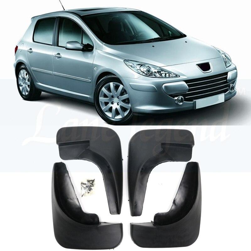 Новые 4 шт. Брызговики щитки брызговики крылья для Peugeot 307 2000 2001 2002 2003 2004 2005 2006 2007