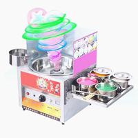 12V Commercial Fancy Gas Cotton Candy Maker DIY Sweet Candy Sugar Floss Machine Stainless Steel Snack