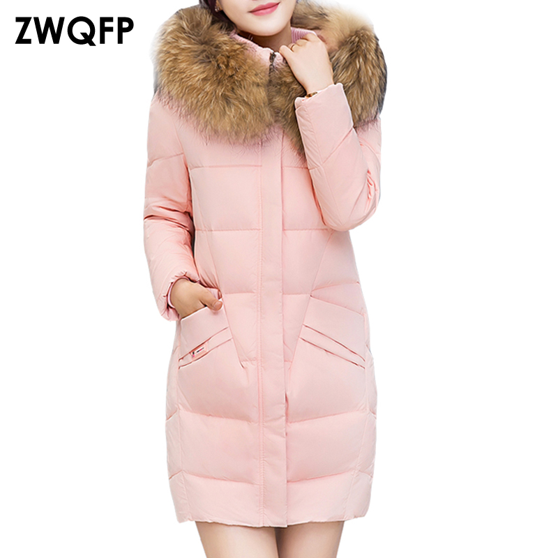 2017 Winter Coat Women Parka Long Cotton Padded Jacket  Luxury Large Fur Collar Laddies Warm Slim Coat Jackets Hooded Overcoat women parka winter jacket 2017 new down cotton padded coat slim fur collar hooded thick warm long overcoat female parka qw697