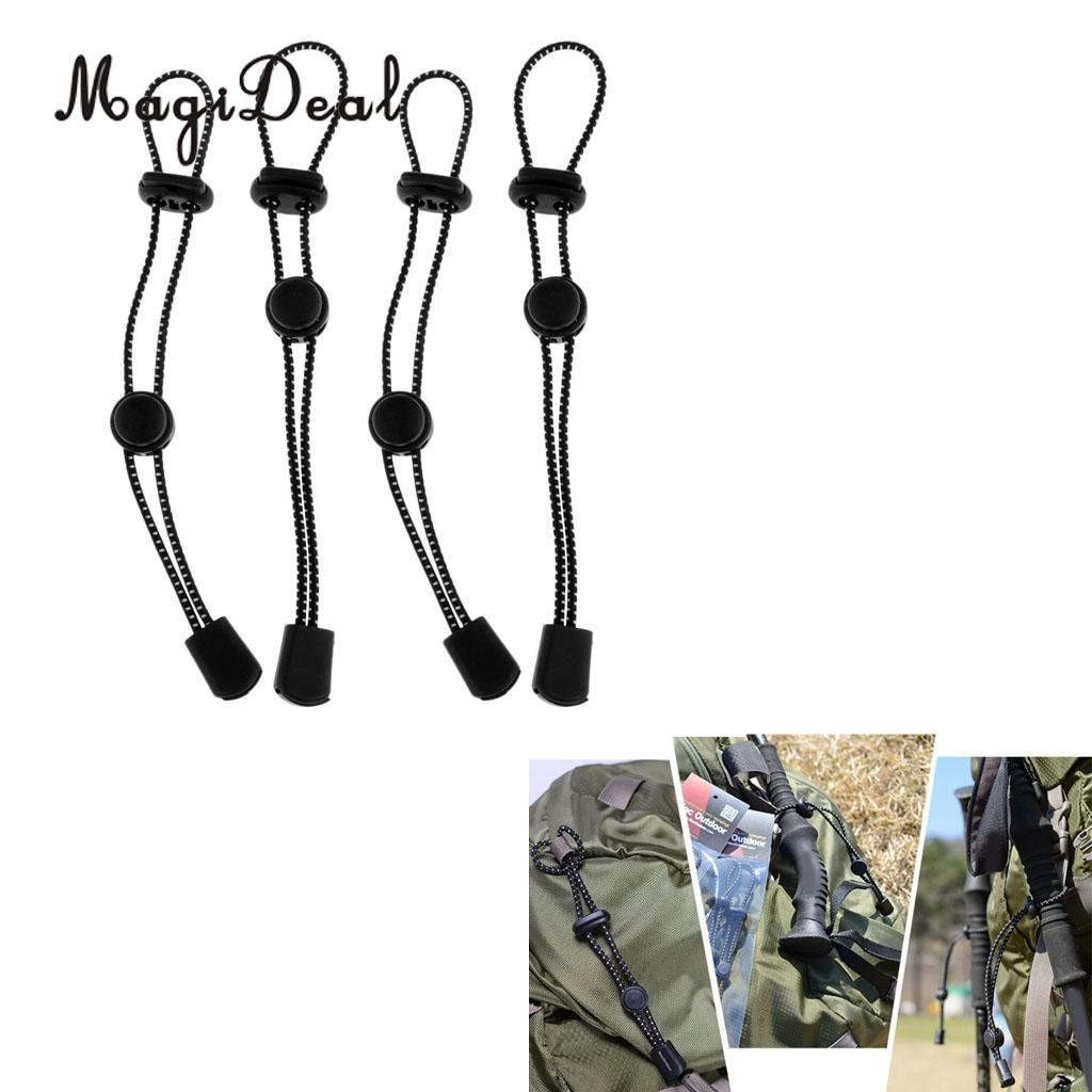 4pcs Backpack Walking Stick Holder Trekking Hiking Pole Fixing Tie Cord Rope Outdoor Sports Small Tools