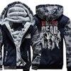 2018 New Arrival Hot Warm Jackets Men The Walking Dead Print Streetwear Thicken Coat Fleece Brand