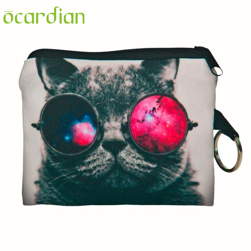 OCARDIAN New Fashion Cool Printing Cat Coin Purse Zipper Clutch Wallet Monedero De La Moneda 11S60919 drop shipping Mar 20 hot 4 20 pcs ycdc yellow shell gif 18650 3 7v high capacity rechargeable li ion battery for led flashlight torch power bank