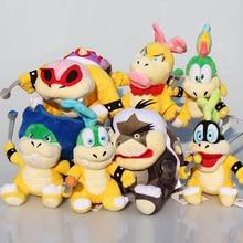 7pcs/lot Super Mario Bros Koopa Plush Toys Dolls Wendy / LARRY / IGGY /Ludwig /Roy / Morton /Lemmy O.Koopa Stuffed Toy