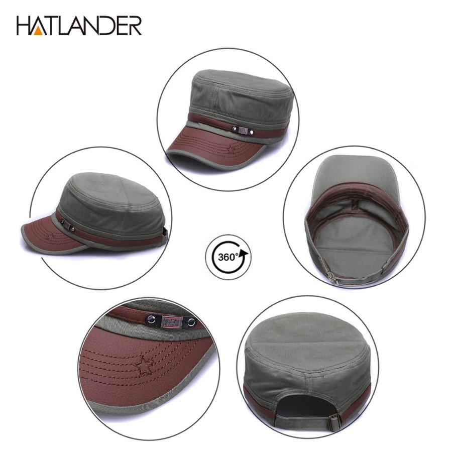 7c71c43bb New Fashion Cotton Military Hats For Men Women Adjustable Flat Cadet ...