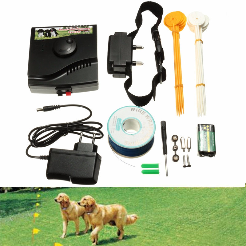 hot sale 300 square meter wireless invisible waterproof underground electric dog safety fence fencing system 1