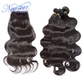 new star hair brazilian virgin hair with closure Brazilian body wave 3 bundles weaves with 1 free part lace body wave closure