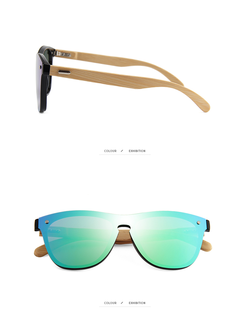 CONCHEN Mirror Lenses Bamboo Wooden Sunglasses 20