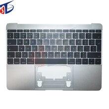 Великобритания Клавиатура ноутбука чехол для Apple Macbook retina 12 ''A1534 Великобритании Топ серый чехол Топ крышка год